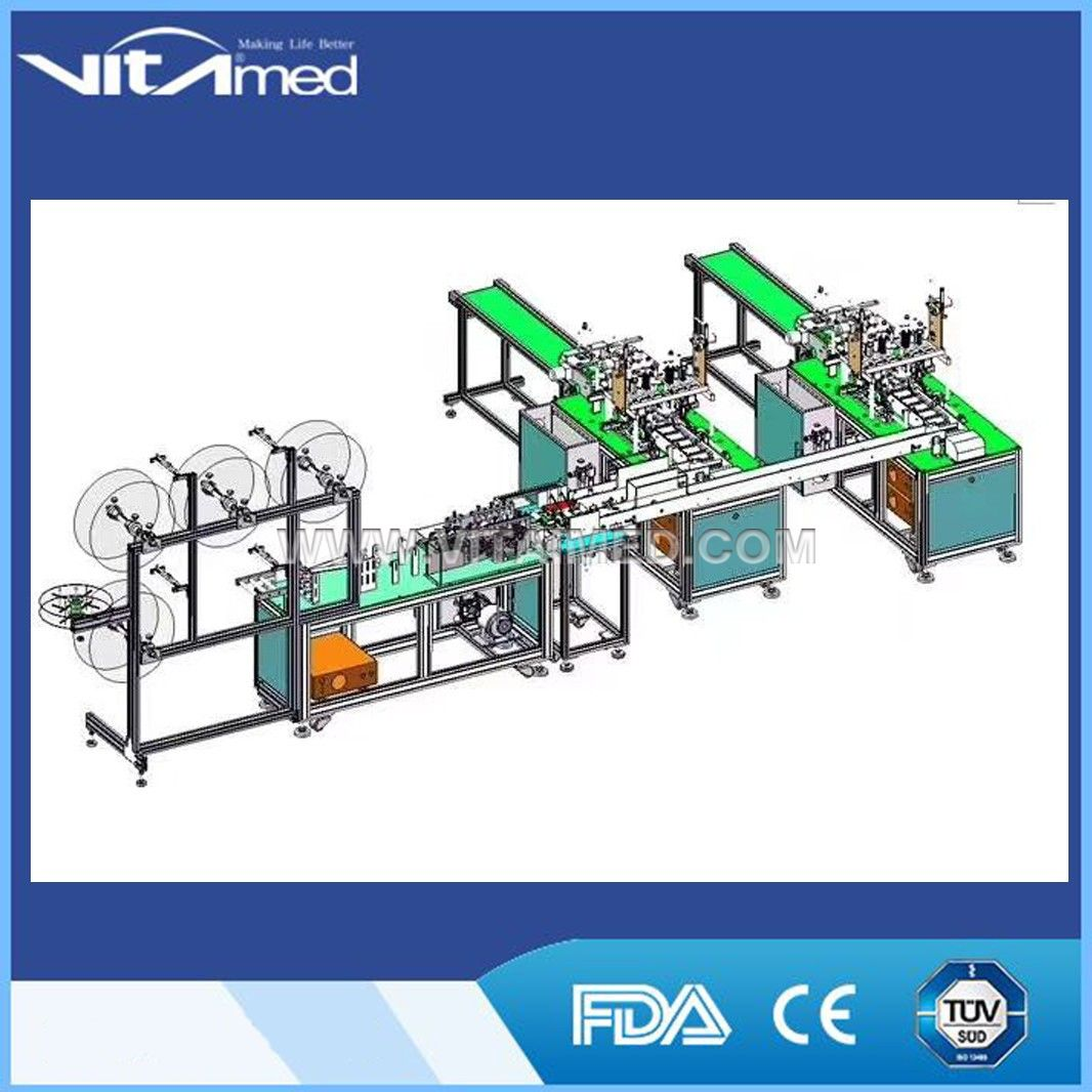 Fully Automatic Nonwoven Folding Medical Face Mask Making Machine VSFM01