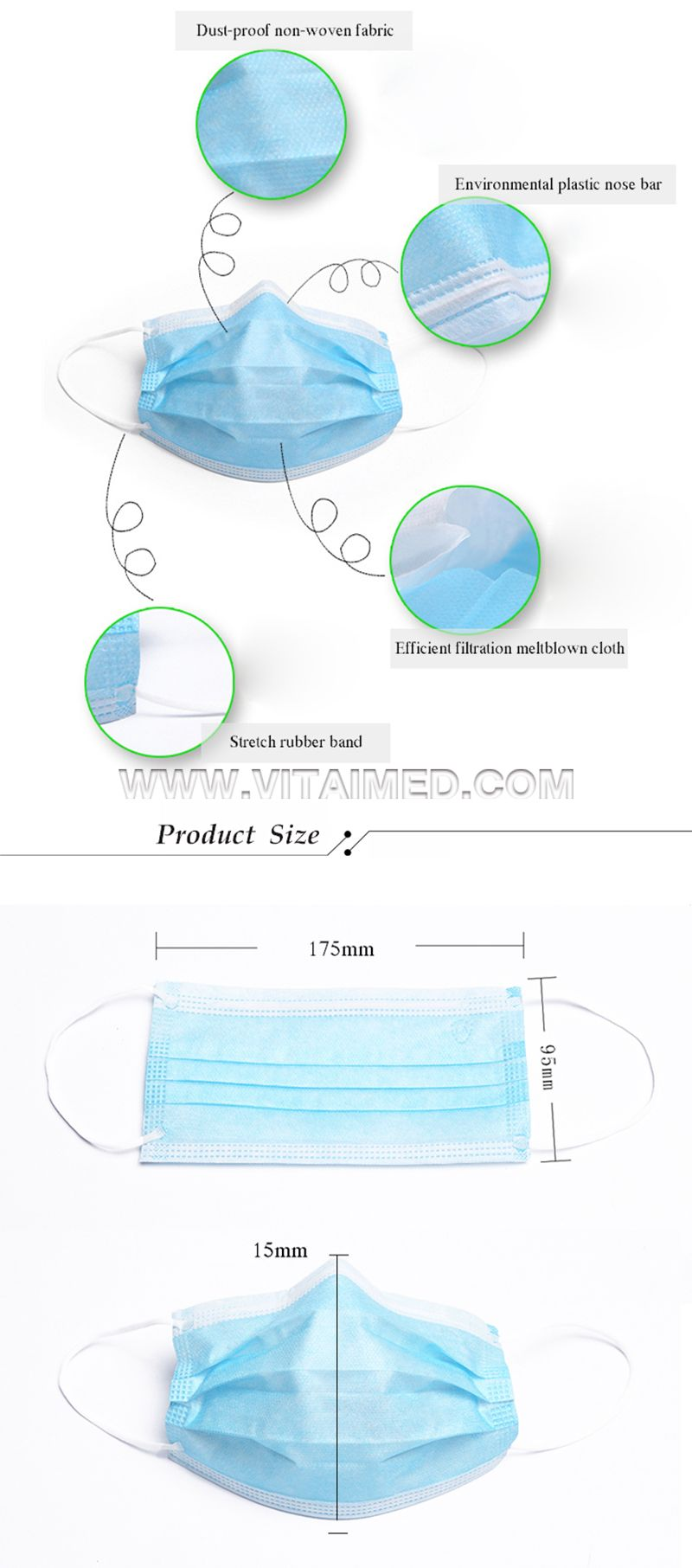 3-ply Non-woven Disposable Face Mask FM01