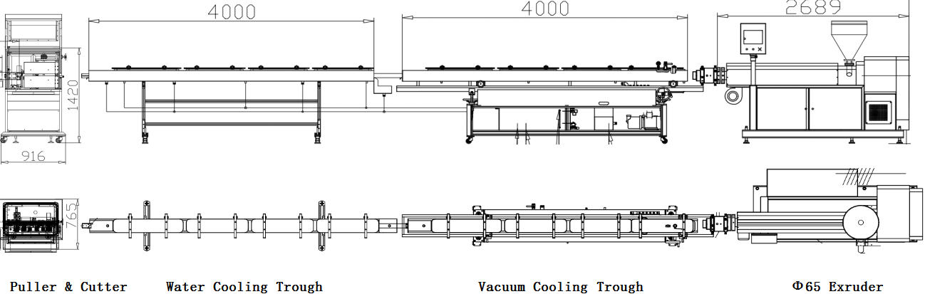 PVC Tube Extrusion Line